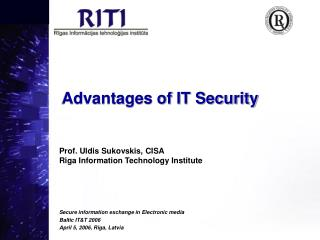 Advantages of IT Security