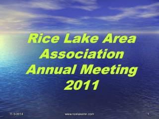 Rice Lake Area Association Annual Meeting 2011