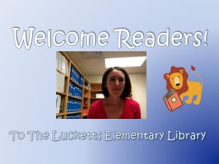 Welcome Readers!