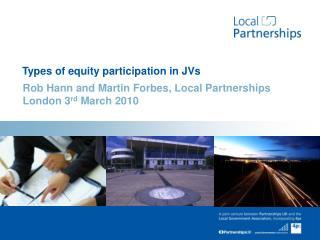 Types of equity participation in JVs