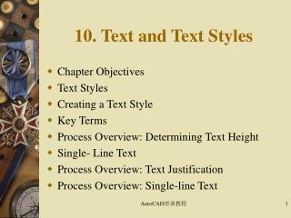 10. Text and Text Styles