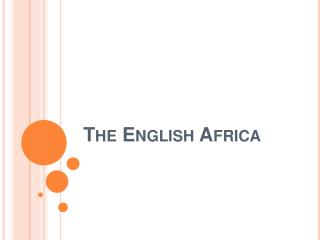 The English Africa