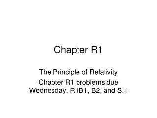 Chapter R1