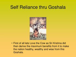 Self Reliance thru Goshala