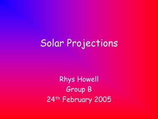Solar Projections