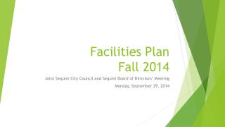 Facilities Plan Fall 2014