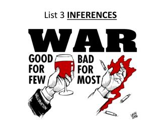 List 3  INFERENCES