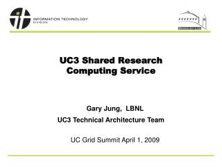 UC3 Shared Research Computing Service