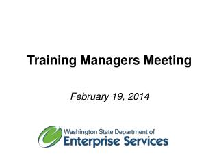 Training Managers Meeting
