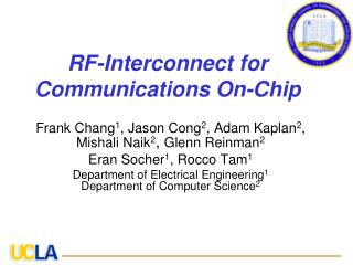 RF-Interconnect for Communications On-Chip