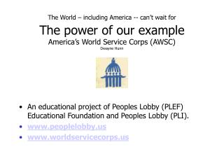 An educational project of Peoples Lobby (PLEF) Educational Foundation and Peoples Lobby (PLI).