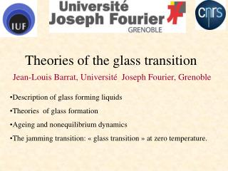 Theories of the glass transition