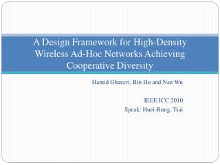 A Design Framework for High-Density Wireless Ad-Hoc Networks Achieving Cooperative Diversity