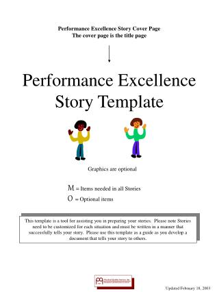 Performance Excellence Story Template