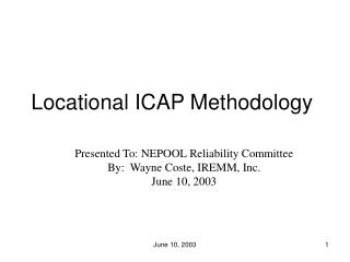 Locational ICAP Methodology