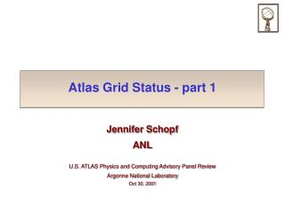 Atlas Grid Status - part 1
