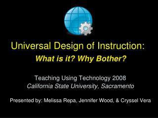 Universal Design of Instruction: