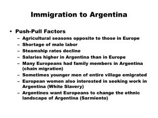 Immigration to Argentina