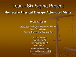 Lean - Six Sigma Project