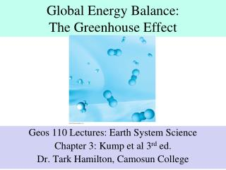 Global Energy Balance: The Greenhouse Effect