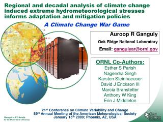 Regional and decadal analysis of climate change induced extreme hydrometeorological stresses informs adaptation and miti