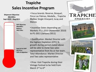 Trapiche Sales Incentive Program