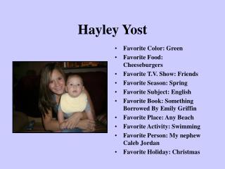 Hayley Yost