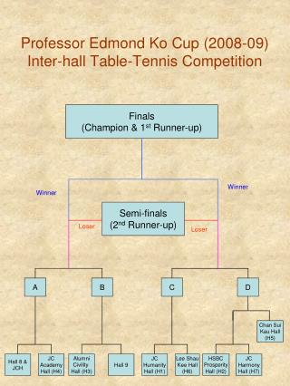 Professor Edmond Ko Cup (2008-09) Inter-hall Table-Tennis Competition