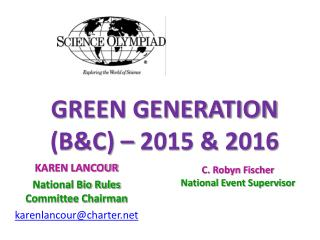 GREEN  GENERATION  (B&C) – 2015 & 2016
