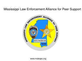 Mississippi Law Enforcement Alliance for Peer Support