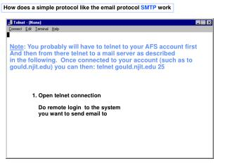 How does a simple protocol like the email protocol  SMTP  work