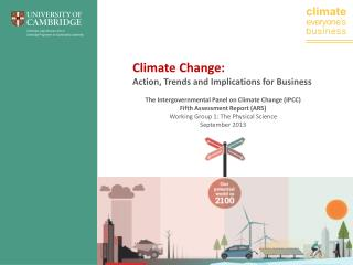 Climate Change:  Action, Trends and Implications for Business