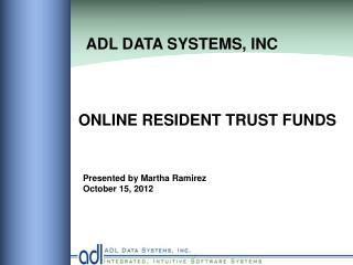 ONLINE RESIDENT TRUST FUNDS