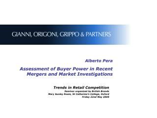 Alberto Pera Assessment of Buyer Power in Recent Mergers and Market Investigations