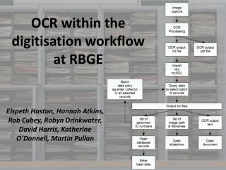 OCR within the digitisation workflow at RBGE