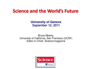 Science and the World's Future