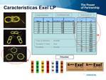 Caracter sticas Exel LP