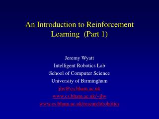 An Introduction to Reinforcement Learning  (Part 1)