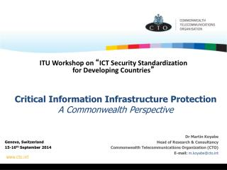Critical Information Infrastructure Protection A Commonwealth Perspective