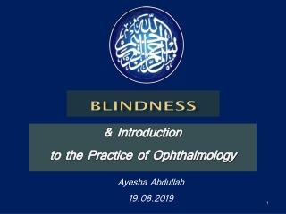 EPIDEMIOLOGY OF BLINDNESS