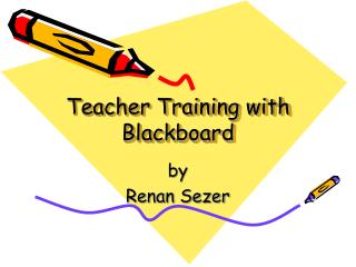 Teacher Training with Blackboard