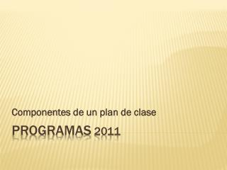 Programas  2011