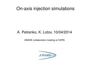 On-axis injection simulations