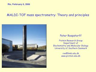 MALDI-TOF mass spectrometry: Theory and principles
