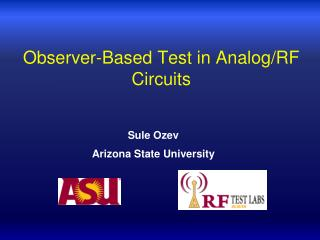 Observer-Based Test in Analog/RF Circuits