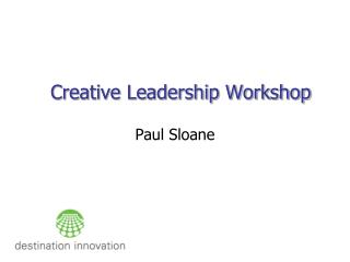 Creative Leadership Workshop