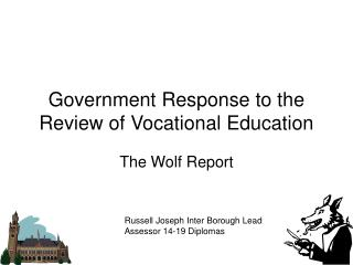Government Response to the Review of Vocational Education