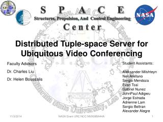 Distributed Tuple-space Server for Ubiquitous Video Conferencing