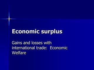 Economic surplus