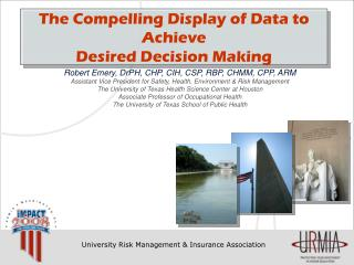 The Compelling Display of Data to Achieve  Desired Decision Making